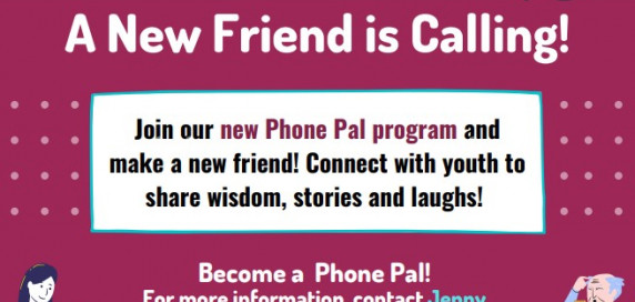 "graphic of title with ""a new friend is calling!"" in text"