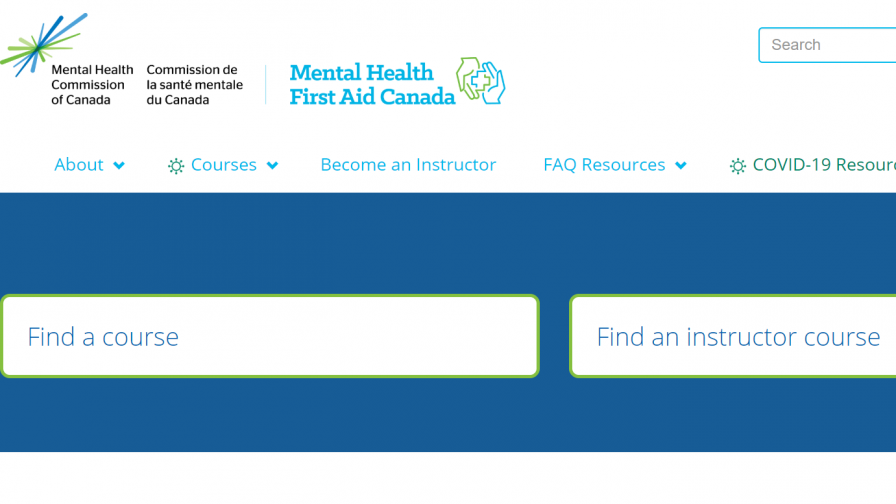 Mental Health Commission of Canada course search image