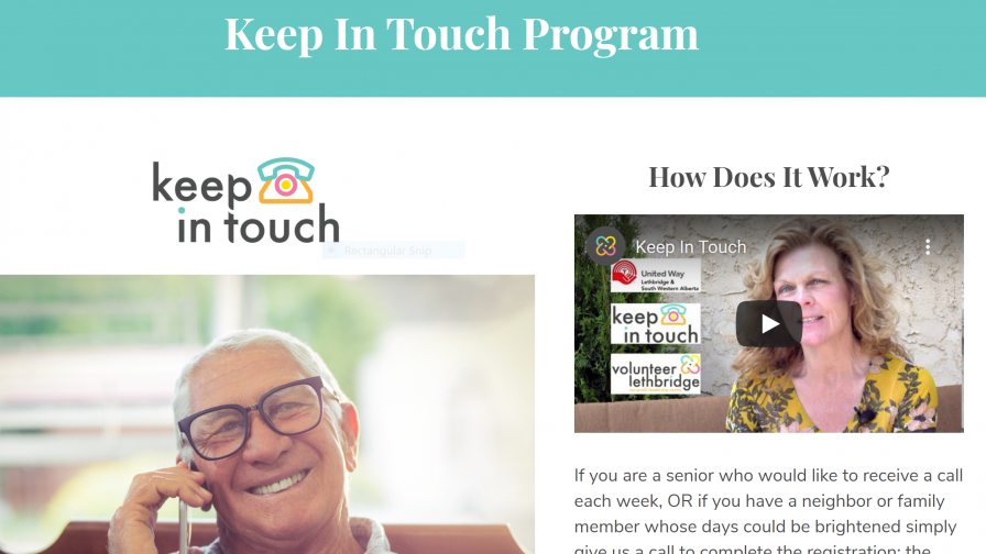 Keep In touch program banner